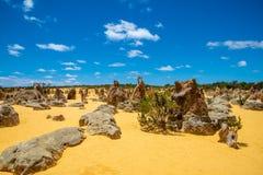 Skały przy pinaklami Dezerterują w zachodniej australii północnej Perth zdjęcia royalty free