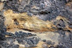 Skał warstwy - kolorowe formacje skały brogować nad setkami rok Ciekawy tło z fascynującą teksturą obrazy stock