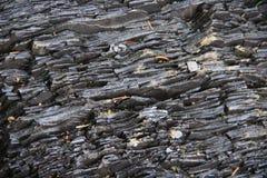 Skał warstwy w górach Warstwy kamieniste skały zdjęcie royalty free