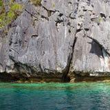 Skała i morze w El Nido, Filipiny Obraz Stock