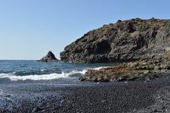 Skała i morze w Tenerife wyspach kanaryjska zdjęcie royalty free