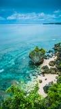 Skała na Niemożliwej plaży w wieczór świetle, Bali Indonezja Zdjęcia Royalty Free