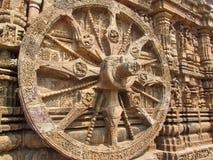Skała rzeźbiący rydwanu koło przy Sun świątynią Fotografia Royalty Free