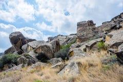 Skała w Gobustan, Azerbejdżan Obraz Stock