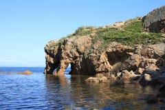 Skała w morzu Obraz Royalty Free