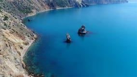 Skała w morzu, piękny widok fotografia stock