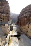 Skała wadi Mujib -- park narodowy lokalizować w terenie Nieżywy morze, Jordania Obraz Stock