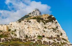 Skała widzieć od Europa punktu Gibraltar Zdjęcie Royalty Free