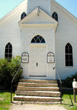 Skała wieka kamienia i drzwi Starzy Kościelni kroki Obrazy Stock