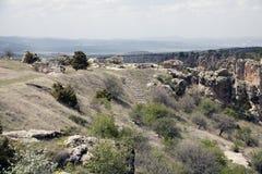 Skała z zawala się w Midas, Turcja obrazy royalty free