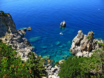 skały 3 Korfu obraz stock