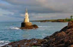 Skały blisko Ahtopol wioski i latarni morskiej, Bułgaria Fotografia Royalty Free