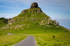 Skały Dolina zbliżać Lynmouth w Devon Fotografia Stock