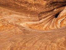 Skały erozja i warstwy tworzą zawijasa wzór Zdjęcia Stock