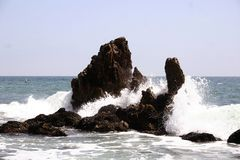 skały fale się Obraz Royalty Free