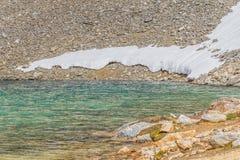 Skały i śnieg w Laguna Turquesa obraz royalty free