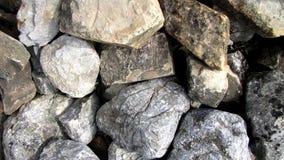 SKAŁY I kamienie Z mech tła wzorem Obraz Stock