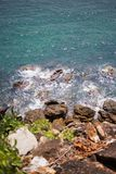 Skały i morze †‹â€ ‹piękny morze †‹â€ ‹Azja Obraz Stock