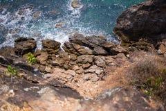 Skały i morze †‹â€ ‹piękny morze †‹â€ ‹Azja Obraz Royalty Free