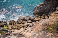 Skały i morze †‹â€ ‹piękny morze †‹â€ ‹Azja Obrazy Stock