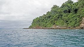 Skały i ocean, azjata plaża Zdjęcie Stock