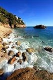Skały i piasek w plaży losu angeles Nao przylądek w Hiszpania obraz royalty free