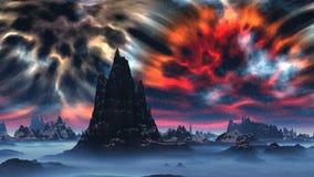 Skały i przestrzeni burza