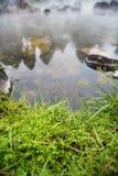 Skały i trawa w gorących wiosnach zdjęcie stock