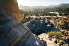 Skały i widok Vasquez skał okręgu administracyjnego park w Agua Dulka, Cal Fotografia Royalty Free