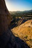 Skały i widok Vasquez skał okręgu administracyjnego park w Agua Dulka, Cal Obrazy Stock