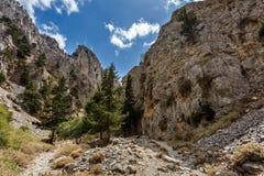 Skały Imbros wąwóz crete Grecja Zdjęcia Stock