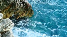 Skały na morzu w Montenegro Skalista brzegowa Dzika plaża Dangero zbiory
