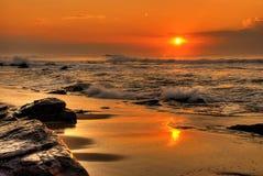 Skały na plaży Fotografia Stock