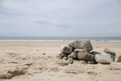 Skały na plaży Zdjęcie Stock