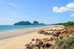 Skały na plaży Zdjęcia Royalty Free
