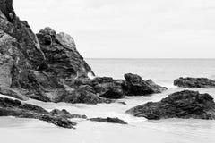 Skały na plaży Obraz Stock