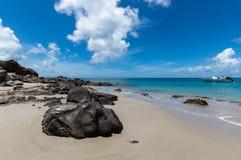 Skały na plaży Fotografia Royalty Free