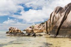Skały na Seychelles wyspy plaży w oceanie indyjskim Fotografia Royalty Free