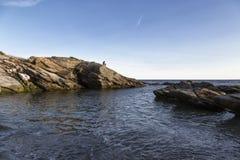 Skały na wybrzeżu Obraz Royalty Free