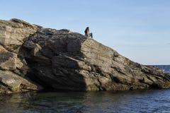 Skały na wybrzeżu Zdjęcie Stock