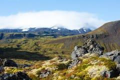 Skały na wybrzeżu fjord na Iceland Obrazy Stock