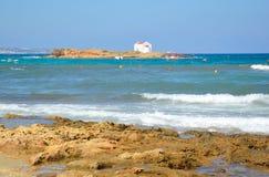 Skały na wybrzeżu morze egejskie zdjęcia royalty free