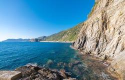 Skały Pięć ziemi, Włochy zdjęcia stock