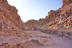 Skały przy zmierzchem w Śmiertelnej dolinie Zdjęcie Stock
