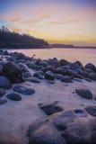 Skały Punggol Plażowy -3 Fotografia Royalty Free