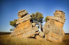 skały rozszczepiają kobiety Obrazy Stock