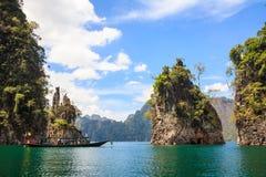 Skały w Khao Sok parku narodowym Zdjęcie Royalty Free
