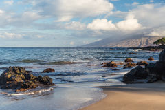 Skały w Maui Hawaje i plaża zdjęcia stock