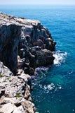 Skały w morzu Obrazy Stock