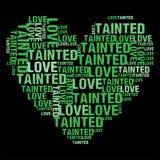 Skażająca miłości zieleń Zdjęcia Royalty Free